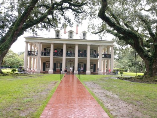 The Oak Alley Plantation is located outside of New Orleans and is 200 years old.