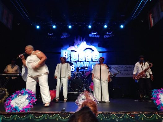 The gospel brunch show is a collection of traditional gospel songs in blues style.